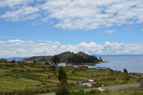 Lake Titicaca Puno Peru Nature Green