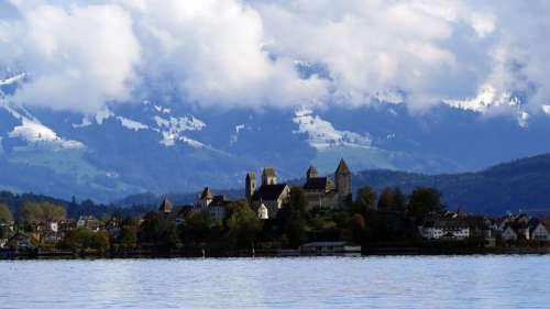 Landscape Nature Switzerland Rapperswil Lake Zurich