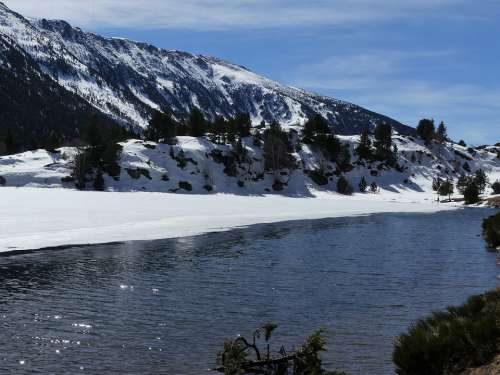 Landscape Nature Mountain Water Snow Ice Winter