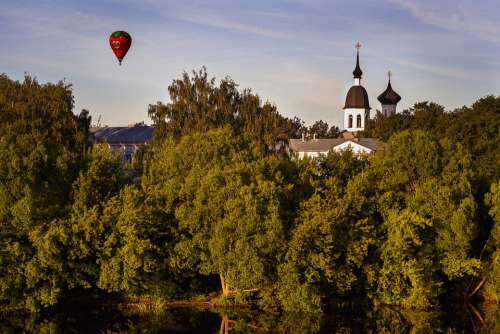 Landscape Nature City Balloon Holiday Summer