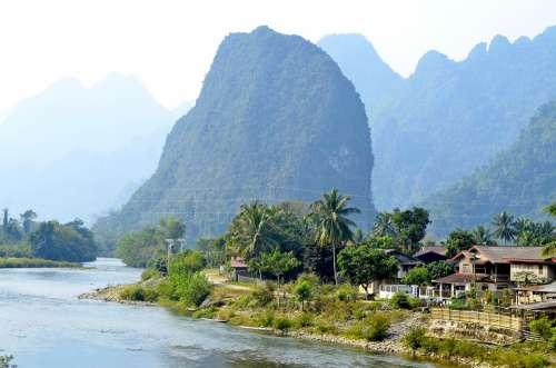 Laos Luang Prabang Hill Village Travel Tourism