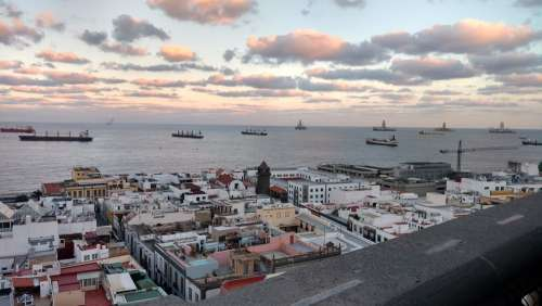 Las Palmas Gran Canaria Spain Sea Clouds