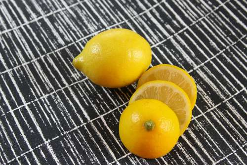 Lemons Fruit Fresh Healthy Food Yellow Juicy
