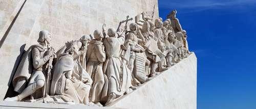 Lisbon Portugal Belem Monument Discoveries Skyline