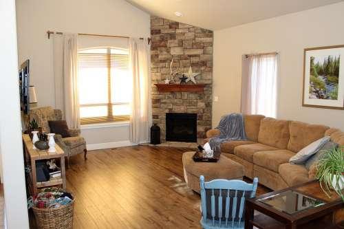 Living Warm Window Fireplace Live House Furniture