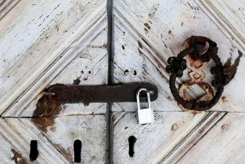 Locked Traditional And Modern Key Locker Door