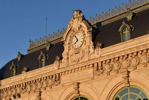 Lyon Train Station Brotteaux Old Station Sunset
