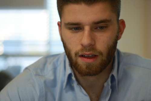 Man Young Man Close Up Portrait Talking Adult