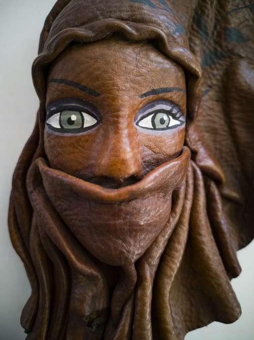 Mask Wood Sculpture Art Handmade Workmanship