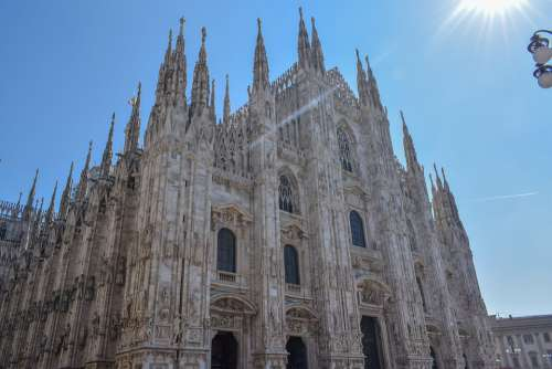 Milan Duomo Italy Architecture Cathedral Church