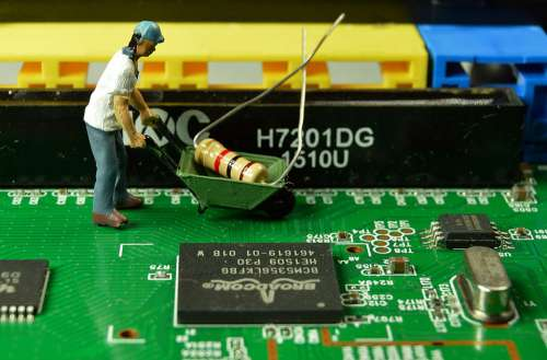 Miniature Worker Creative Work Small Toys