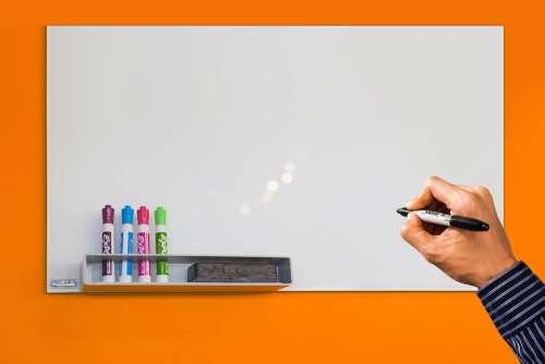 Mockup Whiteboard Hand Write Font Blackboard