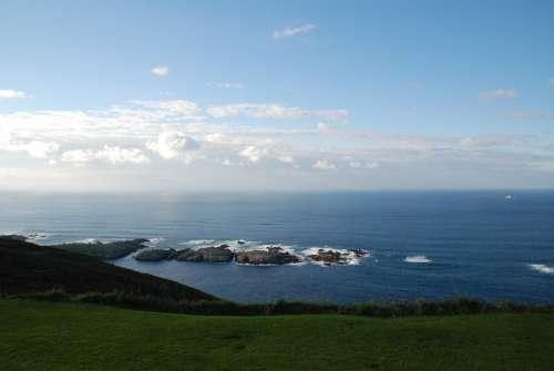 Monte San Pedro La Coruña Spain Mar Costa Galicia