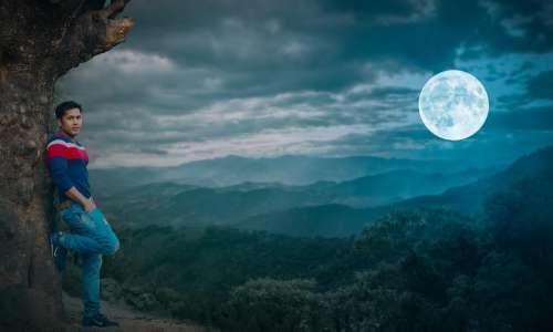 Moonlight Moon Night Mood Sky Dark Dream Nature