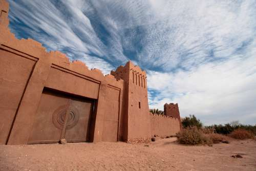 Morocco Africa Village Wall Pise Fortress