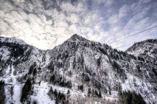 Mountain Kaprun Austria Mountains Landscape Snow
