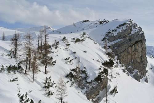 Mountains Snow Winter Rock Landscape Alpine