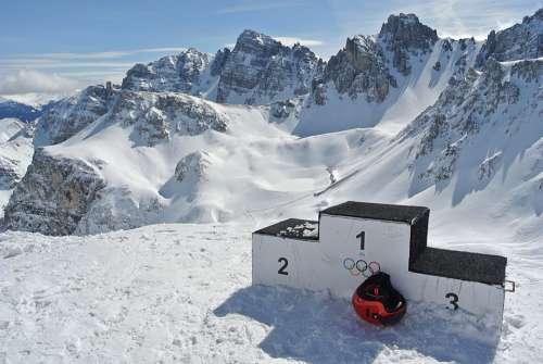 Mountains Ski Skiers Snowboard Ski Helmet Success