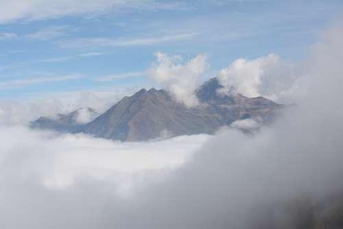 Mountains Cloud Sky Panorama Fog Hills Pics