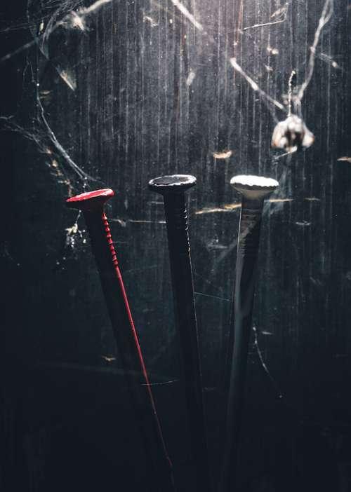Nail Red White Black Mystical Cobwebs Dead