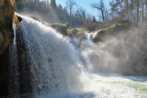 Nature Landscape Water Waterfall Roaring Waterfall