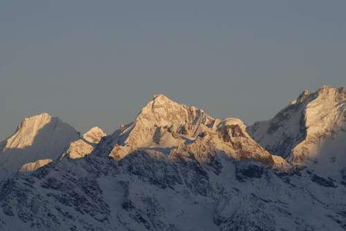Nepal Langtang Himalaya Mountain Morning Light