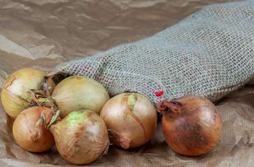 Onion Bag Jute Paper Fresh Food Kitchen Farm