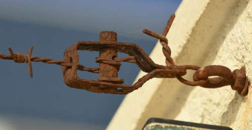 Oxide Wire Fence Rusty Rust Metal