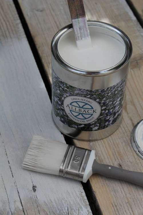 Painting Paint Brush White Wood