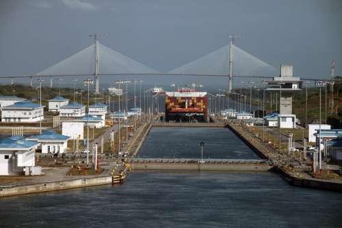 Panama Canal Crossing Artificial Conduit Maritime