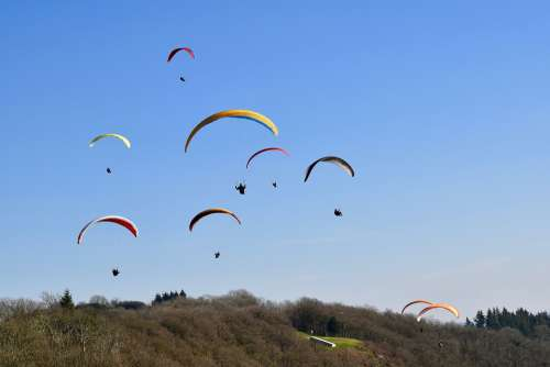 Paragliding Paraglider Sails Of Paragliders