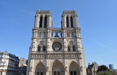 Paris France Notre Dame Cathedral