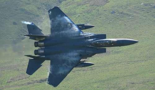 Plane Low Level Mach Loop Hills Training Speed