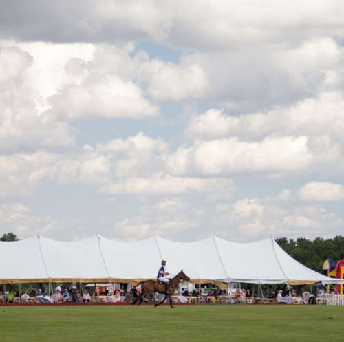 Polo Clouds Horse Rider Summer Sky Color Alive