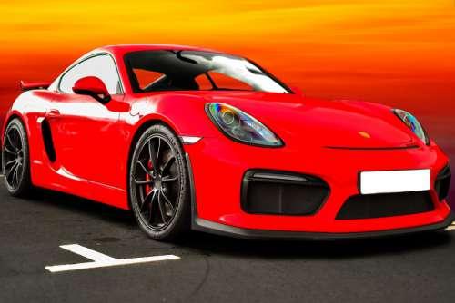 Porsche Cayman Gt4 Sunset Sports Car Car