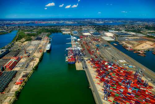 Port Terminal Bayonne New Jersey America Industry