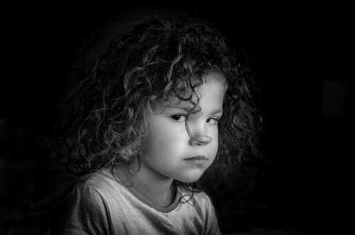 Portrait Profile Face Girl