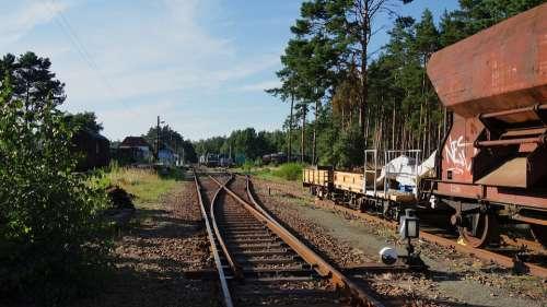 Rails Wagon Train Station Historic Railroad Rural