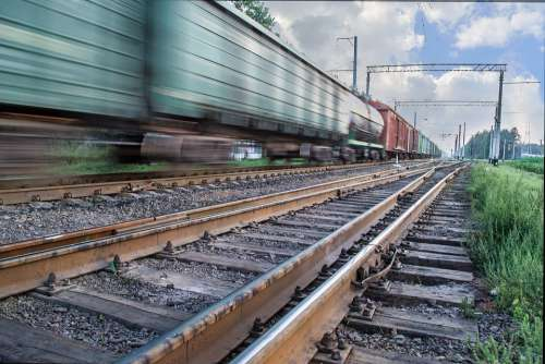 Railway The Ussr Train Cars Road Transport