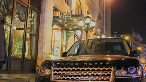 Range Rover Hotel A Night Out Reflection Light