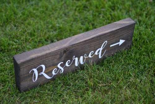 Reserved Sign Wedding Sign Wedding Reserved Sign