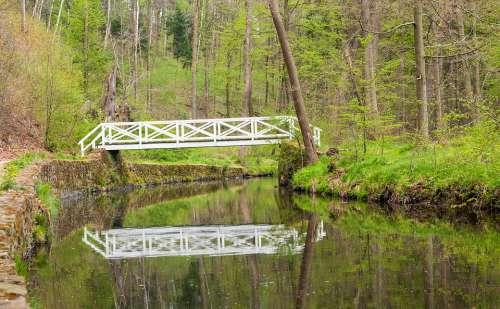 River Bach Bridge Reflection Water Nature