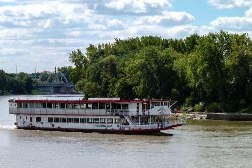 River Boat Winnipeg Manitoba Mb Red River Cruise