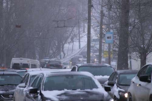 Road Cork Snow Winter Car Street Transport City