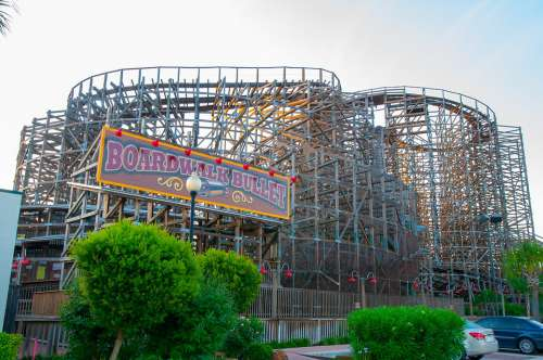 Roller Coaster Park Rollercoaster Fun Colorful