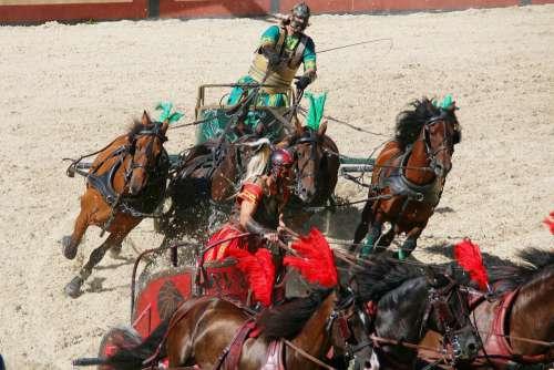 Roman Chariot Race Rome Colloseum Gladiator