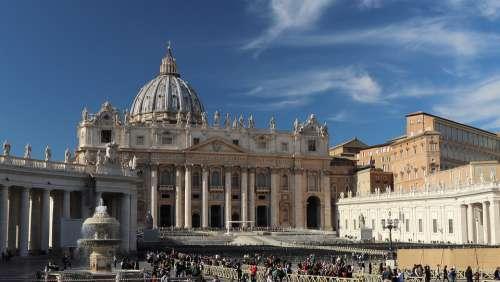 Rome Church Dome Basilica Sky The Vatican