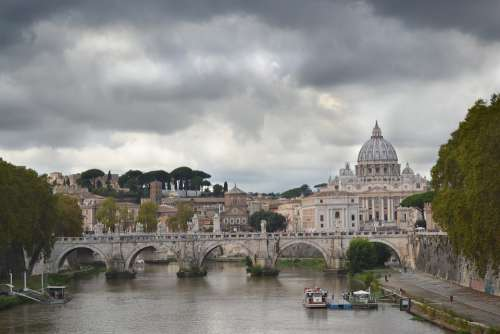 Rome Vatican Italy Church Tiber Architecture