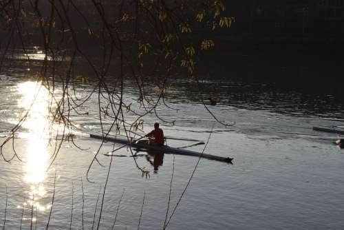 Rowing River Sun