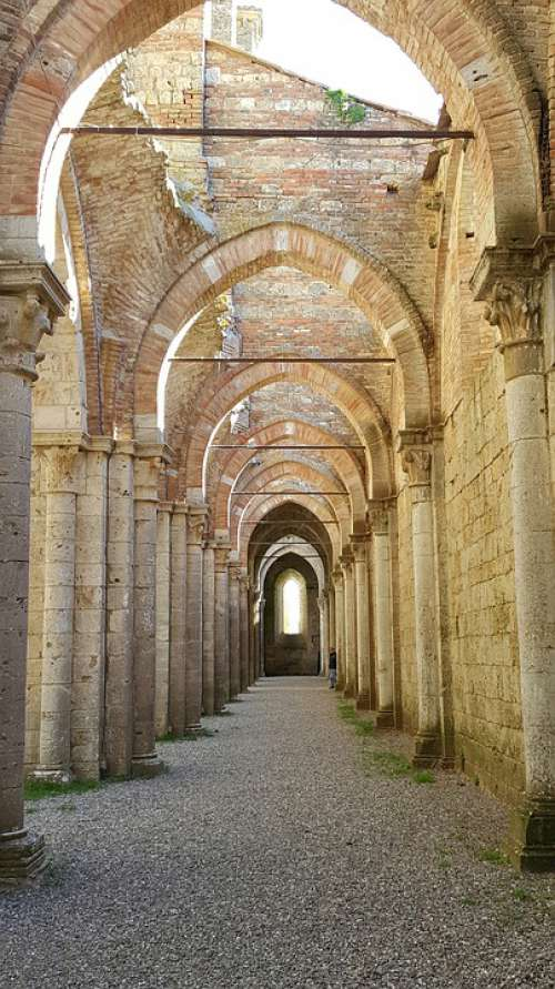 San Galgano Middle Ages Abbey Architecture